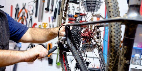 Profesionální servis bicyklu s možností mytí