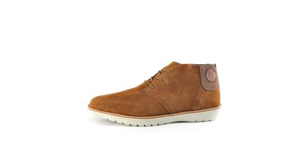 Pánské klasické hnědé semišové boty Timberland