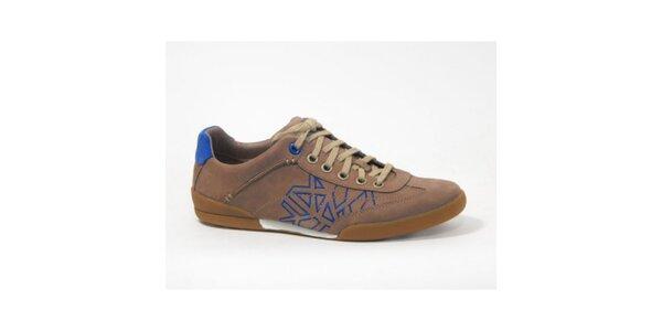 Pánské světle hnědé boty s modrými detaily Timberland