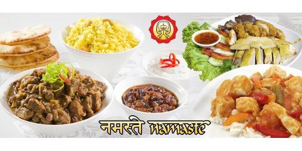 199 Kč za indické speciality v hodnotě 400 Kč v restauraci Namasté!