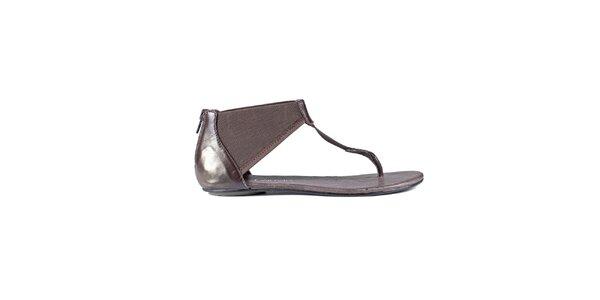 Dámské tmavě hnědé sandály Lise Lindvig
