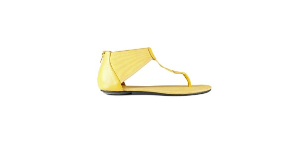Dámské kanárkově žluté sandály Lise Lindvig