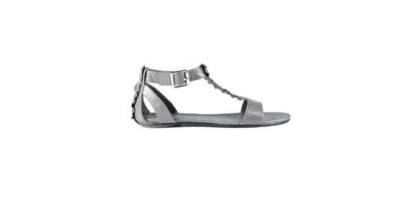 Dámské stříbrnošedé sandály Lise Lindvig s kanýry