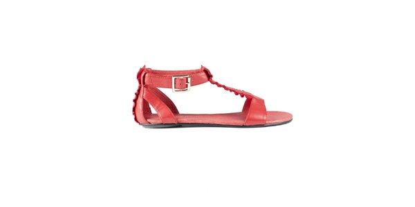Dámské červené sandály Lise Lindvig s kanýry