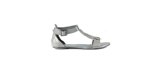 Dámské šedivé kožené sandály Lise Lindvig