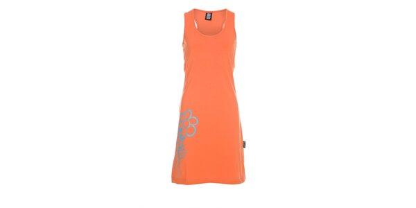 Dámské sytě oranžové tílkové šaty Rejoice
