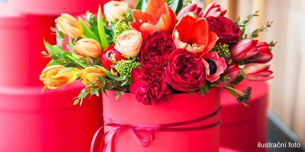 Krásná kytice nejen k Valentýnu v dárkovém boxu