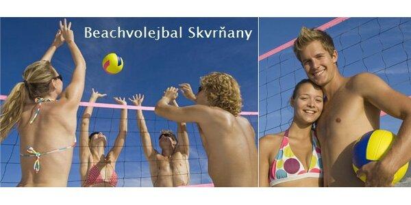 79 Kč za hodinový pronájem nových beachvolejbalových kurtů v Plzni