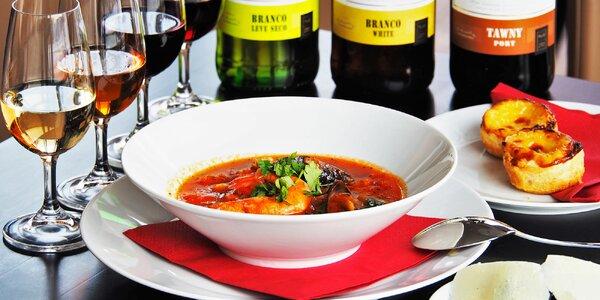 Portugalské menu vč. degustace portských vín