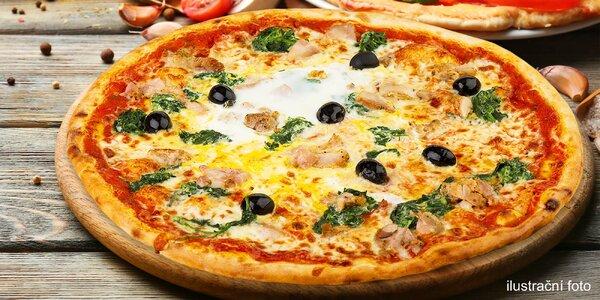 Vynikající pizza a nápoj dle gusta na Arkádách