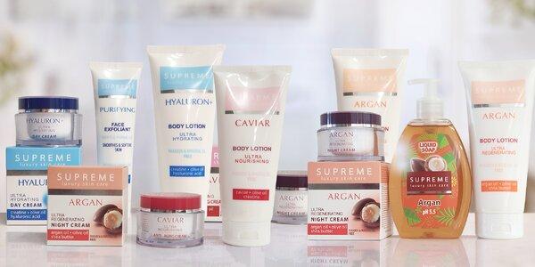 Kosmetické balíčky s arganem, kaviárem a hyaluronem