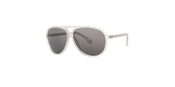Pánské bíle transparentní sluneční brýle Michael Kors