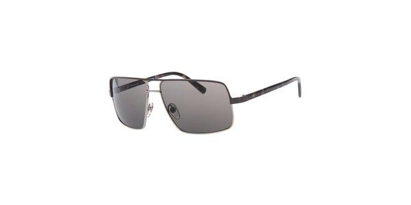 Pánské hranaté stříbrné sluneční brýle Michael Kors