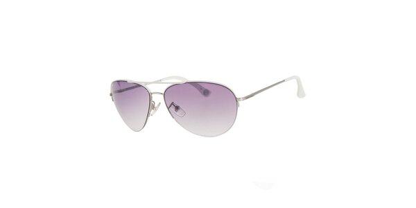 Pánské stříbrnobílé sluneční brýle Michael Kors