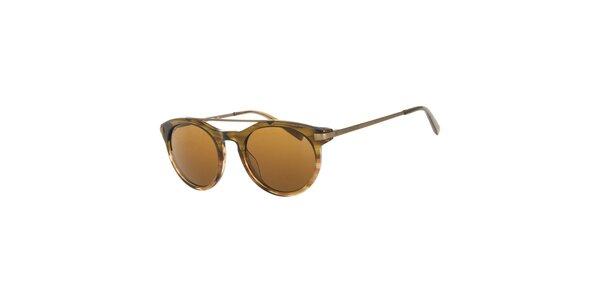 Pánské hnědé kulaté sluneční brýle Michael Kors