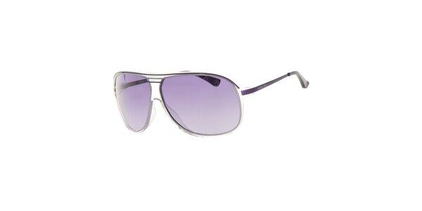Dámské fialové sluneční brýle s transparentními rámečky Michael Kors