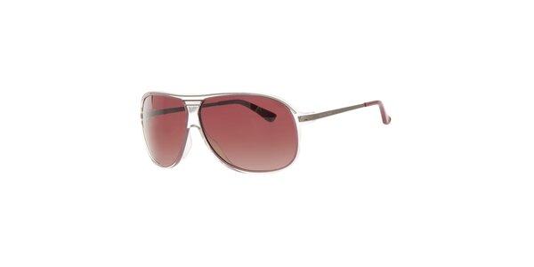 Dámské hnědé sluneční brýle s transparentními rámečky Michael Kors