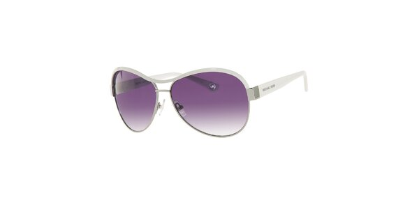 Dámské fialové sluneční brýle s bílými postranicemi Michael Kors