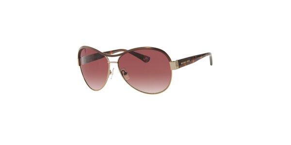 Dámské červenohnědé sluneční brýle Michael Kors