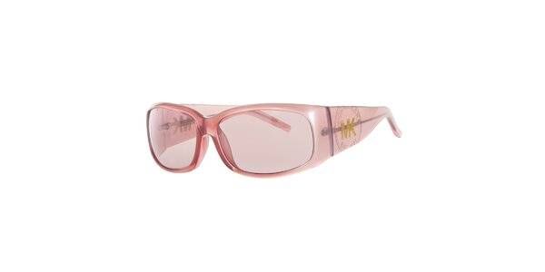 Dámské růžové sluneční brýle s širokými postranicemi Michael Kors
