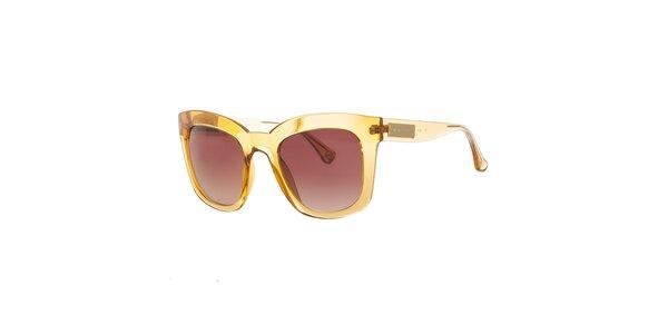 Dámské žluté transparentní sluneční brýle Michael Kors