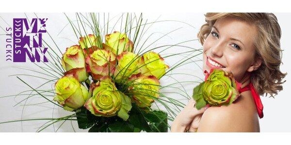 Nádherná kytice 9 netradičních kolumbijských růží Zazu