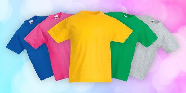 Bavlněná dětská trička Fruit of the Loom: 9 barev