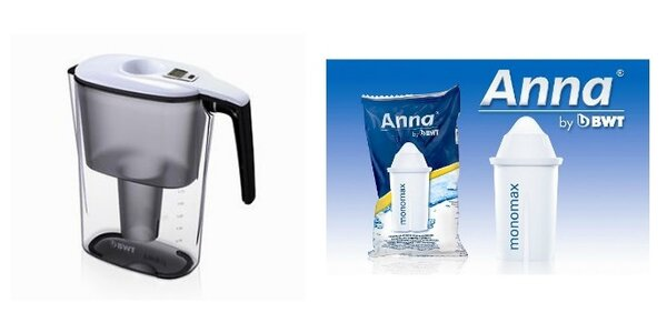 Filtrační konvice Slim + filtr Anna monomax od BWT ZDARMA