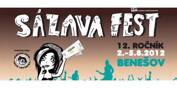 1denní vstupenky na festival Sázavafest 2012