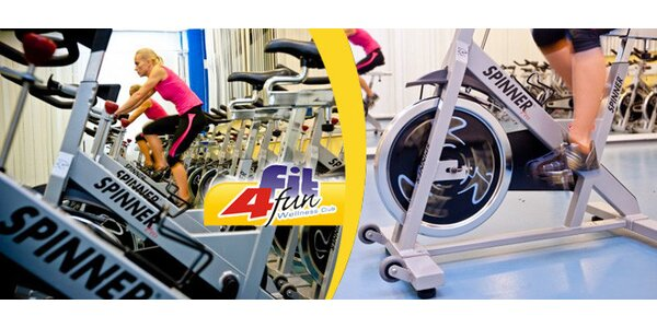 Dvě lekce spinningu a dva volné vstupy do fitness