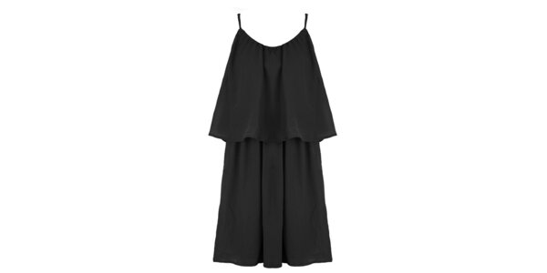 Dámské černé šaty s volným živůtkem Mlle Agathe