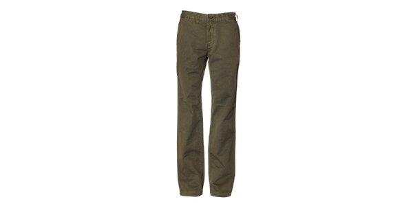 Pánské tmavě zelené kalhoty Bendorff