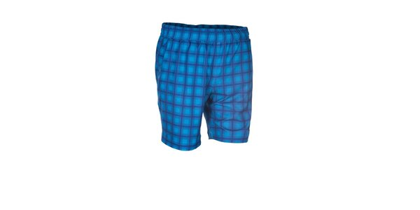 Pánské modré elastické šortky s potiskem Envy