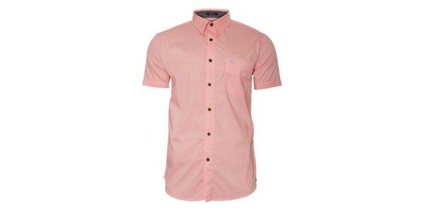Pánská světle růžová košile Bendorff s krátkým rukávem