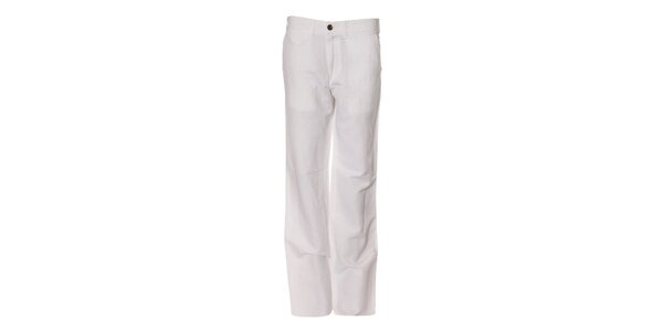 Pánské bílé lněné kalhoty Bendorff