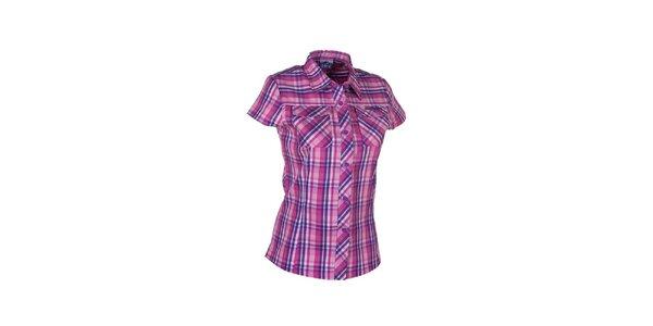 Dámská růžovo-fialová kostkovaná košile Envy