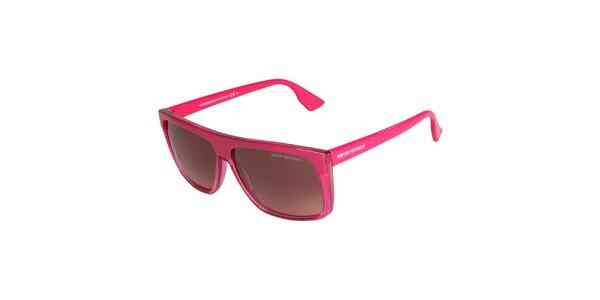 Neonově růžové brýle Emporio Armani