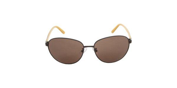 Dámské černo-žluté sluneční brýle Calvin Klein