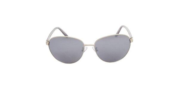 Dámské stříbrno-černé sluneční brýle Calvin Klein