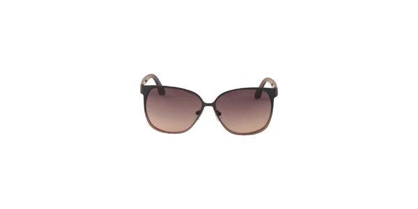Dámské modro-hnědé sluneční brýle Calvin Klein