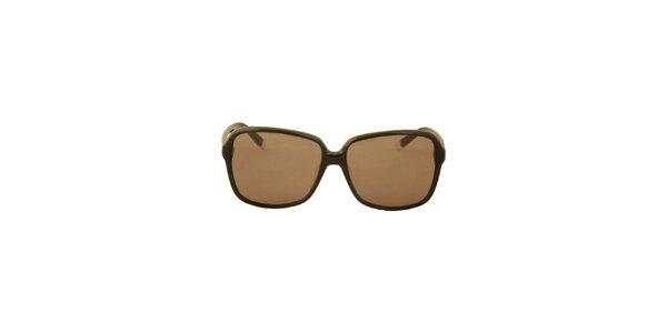Dámské olivově zelené sluneční brýle Calvin Klein