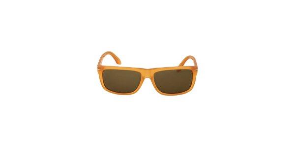 Dámské jantarově žluté sluneční brýle Calvin Klein