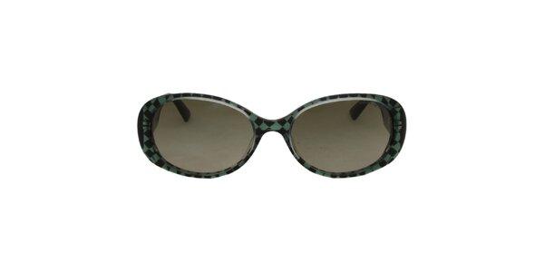 Dámské černo-zelené sluneční brýle Emporio Armani
