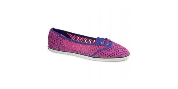 Dámská fuchsiovo-fialová variace na tenisky Keds