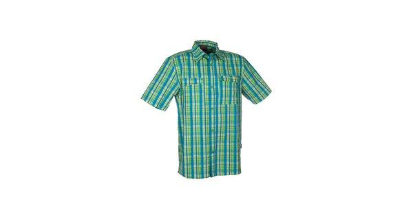 Pánská zelená kostkovaná košile Envy