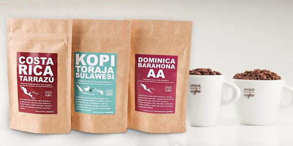 Degustační balíčky čerstvě pražené kávy