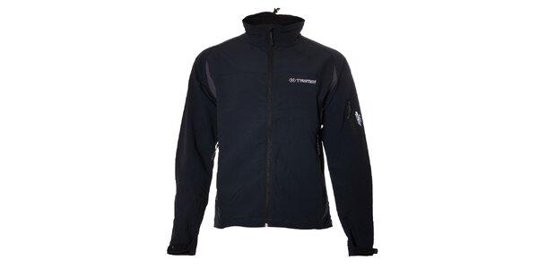 Pánská šedočerná softshellová bunda Trimm
