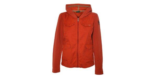 Dámská cihlově červená bundička Trimm s kapucí