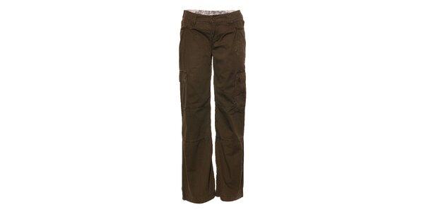 Dámské tmavě zelené sportovní kalhoty Trimm