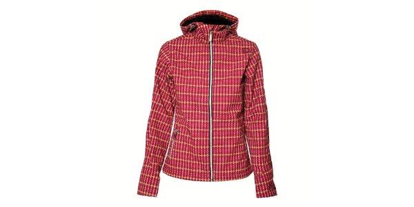 Dámská růžová softshellová bunda Trimm s geometrickým vzorem